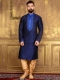 Sapphire Blue Art Banarasi Silk Festival Embroidered Kurta