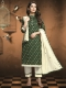 Hunter Green Patola Printed Casual Churidar Pant Kameez