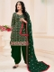 Hunter Green Cotton Embroidered Festival Patiala Pant Kameez