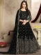 Black Faux Georgette Embroidered Party Lawn Kameez