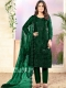 Hunter Green Net Embroidered Festival Pant Kameez