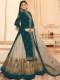 Pine Green and Tan Brown Net Embroidered Party Lehenga with Suit