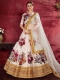 Off-White Art Silk Embroidered Wedding Lehenga Choli