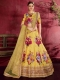 Maize Yellow Art Silk Embroidered Wedding Lehenga Choli