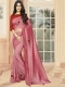 Thulian Pink Vichitra Silk Plain Party Saree