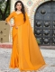 Orange Peel Satin Plain Party Saree