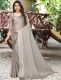 Gray Satin Plain Party Saree