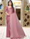 Thulian Pink Satin Plain Party Saree