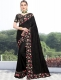 Black Vichitra Silk Embroidered Party Saree