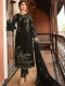 Black Satin Georgette Embroidered Festival Pant Kameez