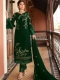 Hunter Green Satin Georgette Embroidered Festival Pant Kameez