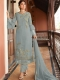 Sky Blue Satin Georgette Embroidered Festival Pant Kameez