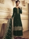 Hunter Green Crepe Embroidered Festival Palazzo Pant Kameez