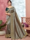 Gray Vichitra Silk Handwoven Festival Saree