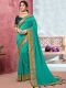 Persian Green Vichitra Silk Handwoven Festival Saree
