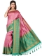 Thulian Pink and Sea Green Art Silk Handwoven Festival Saree