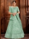 Celadon Green Net Embroidered Wedding Lehenga Choli