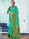 Sea Green Art Silk Handwoven Festival Saree