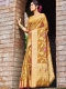 Golden Yellow Silk Handwoven Festival Saree