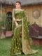 Fern Green Silk Handwoven Festival Saree