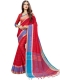 Rose Madder Red Cotton Silk Printed Casual Saree