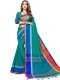 Pine Green Cotton Silk Printed Casual Saree