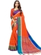 Portland Orange Cotton Silk Printed Casual Saree