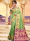 Light Green Silk Handwoven Festival Saree