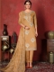 Fallow Brown Cotton Embroidered Party Pant Kameez