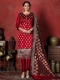 Maroon Banarasi Silk Handwoven Party Churidar Pant Kameez